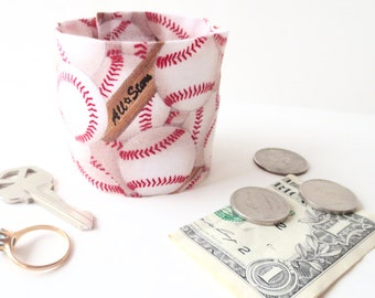Money Cuff for Kids -Secret Stash-  HOME RUN!- hide your lunch money, house key, secret notes, health info etc in a HIDDEN inside zipper!