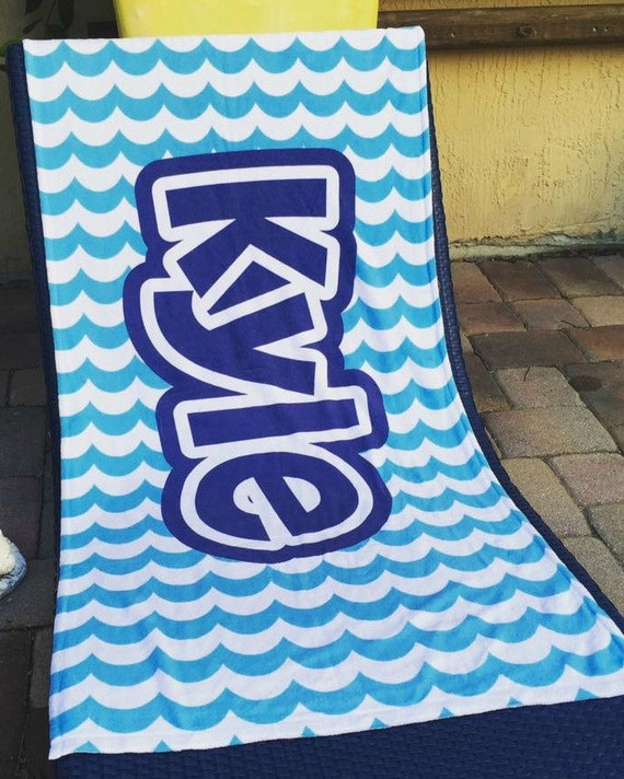 Personalized Beach Towel For Toddler: Personalized Beach Towel Personalized Kids Beach Towel