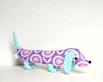 Plush Wiener Dog Softie for Kids  Dachshund Baby Toy Stuffed Animal KIKI