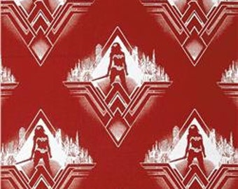 NEW Wonder Woman Licensed DC Camelot Fabric By The Yard 1 Yard