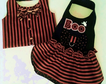 Halloween harness dress and Harness Vest
