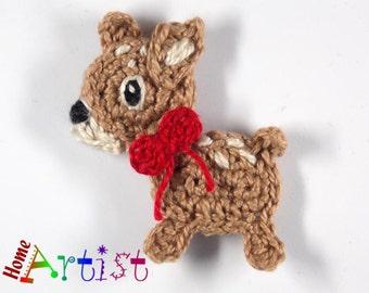 Crochet Applique Deer