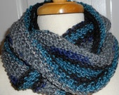 CLEARANCE Moebius Knit Scarf A Little Bit of This and A Little Bit of That The Blue and Greys