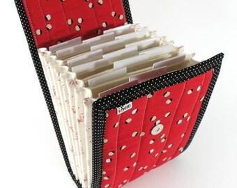 Circular Needle Case - Tiny Ladybugs - Needle Holder Needle Wallet Circular Needle Organizer Red Black Ladybird