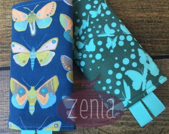 READY TO SHIP Baby carrier drool pads: Gossamer Butterflies