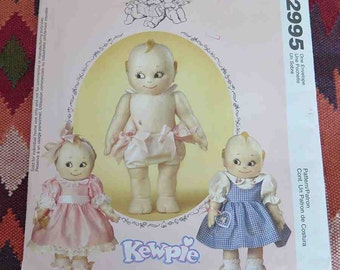 """McCalls Crafts 2995 14"""" Kewpie Doll and Clothes Sewing Pattern UNCUT"""