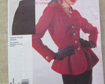 VOGUE Paris Original YSL Yves Saint Laurent Jacket and Skirt Sewing Pattern  14 16 18