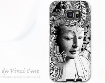 Buddha Galaxy S7 / S7 Edge Case - Dual Layer Two Piece Protective Black and White Buddha Tough Case - Bliss of Being