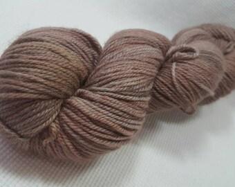 NEW Hand Dyed DK Weight Yarn - Tango by Yarn Hollow - Mushroom Semi Solid 4 ounces 330 yards
