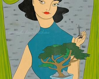 Bonsai Girl 8x10 print