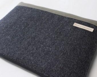 iPad Pro 10.5 inch or 12.9 inch Case, iPad Air 2 Cover, iPad mini Sleeve Tablet  iPad Case - Gray Herringbone Wool