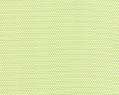 Little Ruby - Little Bliss Dot in Green: sku 55134-14 cotton quilting fabric by Bonnie and Camille for Moda Fabrics - 1 yard