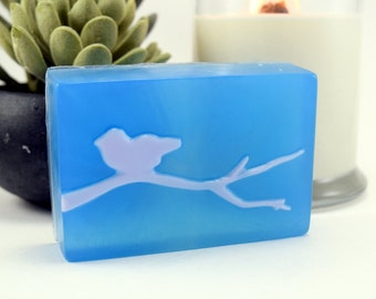 Bird Silhouette Soap, Glycerin Soap, Scented Handcrafted Soap, 3 options