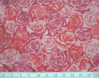 PINK ROSE Fabric - Retired VIP Cranston Pink Roses I Spy Quilts