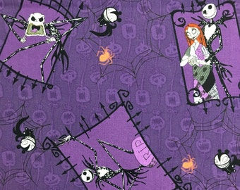 Nightmare Before Christmas Purple fabric 1 yard Extremely Limited Quantity