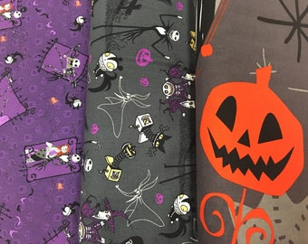 Nightmare Before Christmas fabric set Extremely Limited Quantity