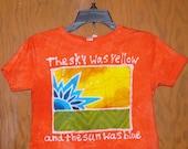 Kids Handmade Batik Grateful Dead Scarlet Begonias Shirt