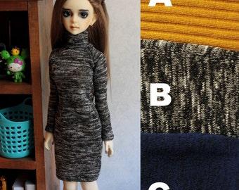 56-60cm BJD Roll Neck Sweater Dress