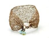 Cuff Bracelet, Bracelet Cuff, Copper Bracelet Cuff, Wire Crochet Cuff, Wire Crochet Jewelry, Copper Jewelry, Rustic Jewelry, Copper Cuff