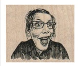 Rubber stamp old woman laugh humor  scrapbooking supplies 17711