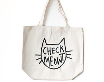 Check Meowt, Tote Bag