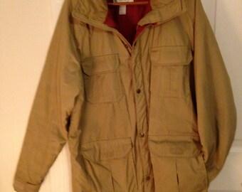 Men's Large Tan Woolrich Coat Parka