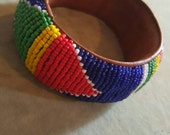 Colorful African Beaded Bangle