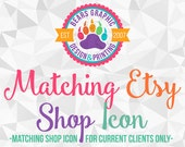 Matching Etsy Shop Icon or Profile Picture Add-On for Current Design Clients, Made to Match