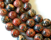Leopard Skin Jasper Beads, 8mm Leopard Skin, Jasper Beads, Gemstone Beads, 46 Beads, 15.5 Inch Strand