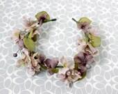 Victorian Faerie Flower Crown - Wreath - Tiara - Headband