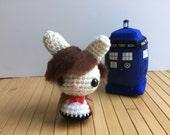The Doctor Moon Bun - Eleventh Doctor Amigurumi Bunny Rabbit - Matt Smith