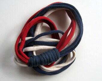 Americana LOOPS HeadBand - Ponytail Holder - Choker - Wrist Wrap Bracelet Multi-Purpose Accessory