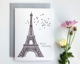 Eiffel Merci Beaucoup // Elegant Thank You Card