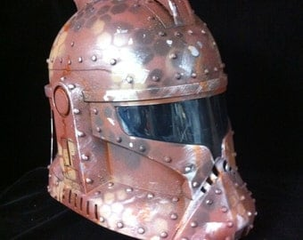 Custom Camo  rusted CloneTrooper Helmet Life Size Cosplay  Battle damaged Star Wars