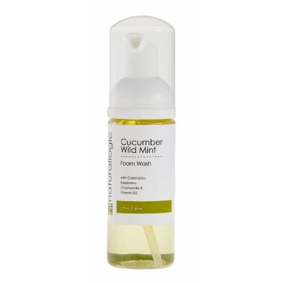 Cucumber Wild Mint Organic Foaming Face Wash. Stimulates Circulation, Cools and Tingles Lifeless, Dull Complexions.