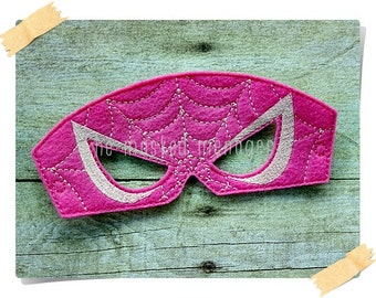 Girls SuperHero Masks Superhero Masks Spidergirl Mask Halloween Mask Make Believe Pretend Play Creative Play Mask