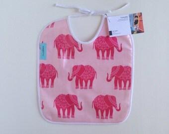 Laminated elephant bib