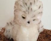 Snowy Owl, Plush, Second Chance, Sleepy