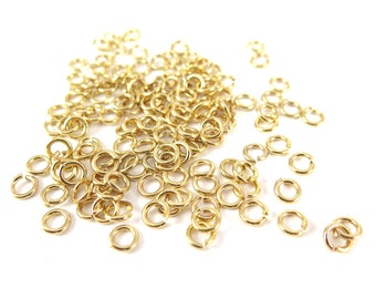 Gold Plated 7mm Round Jump Rings - 12 grams (approximately 80x) (18 gauge) K855-B