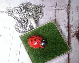 Ladybird on the Lawn Necklace