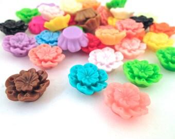 10 Assorted 18mm Sakura Flower Cabochons