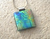 Petite Branches Necklace, Fused Glass Jewelry, Dichroic Jewelry, Tree Necklace, Dichroic Jewelry, Nature Jewelry, Glass Jewelry, 101615p103