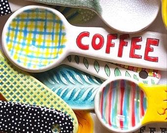 Handmade Pottery Coffee Scoop/ Spoon
