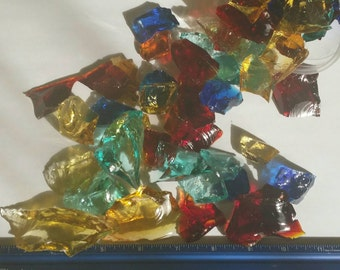Fasceted Glass Pieces for Mosaic Art Designing
