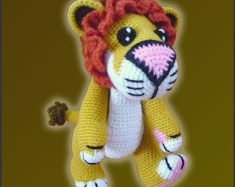 Amigurumi Pattern Crochet Lucas LION DIY Digital Download