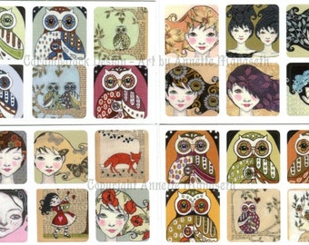 Cute stickers from Carambatack Design - Set with 30 stickers for decoration and gift wrap
