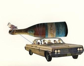 Cold duck. Original collage by Vivienne Strauss.