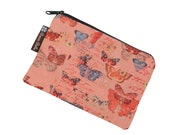 Catch All Bag holds chargers - cords - make up - collections - hard drives - FAST SHIPPING - Butterfly Kisses Fabric