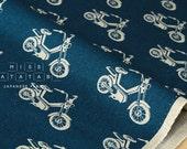 Japanese Fabric Kokka Echino Nico - Motorbike - blue - fat quarter