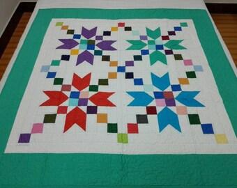 Patchwork Lap quilt #J-63
